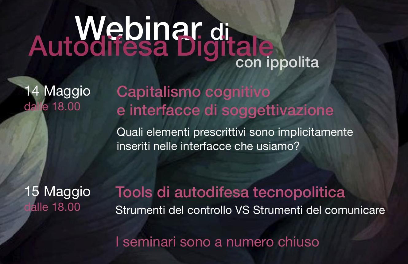 Webinar di Autodifesa Digitale