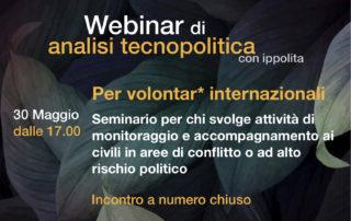 webinar per volontari internazionali