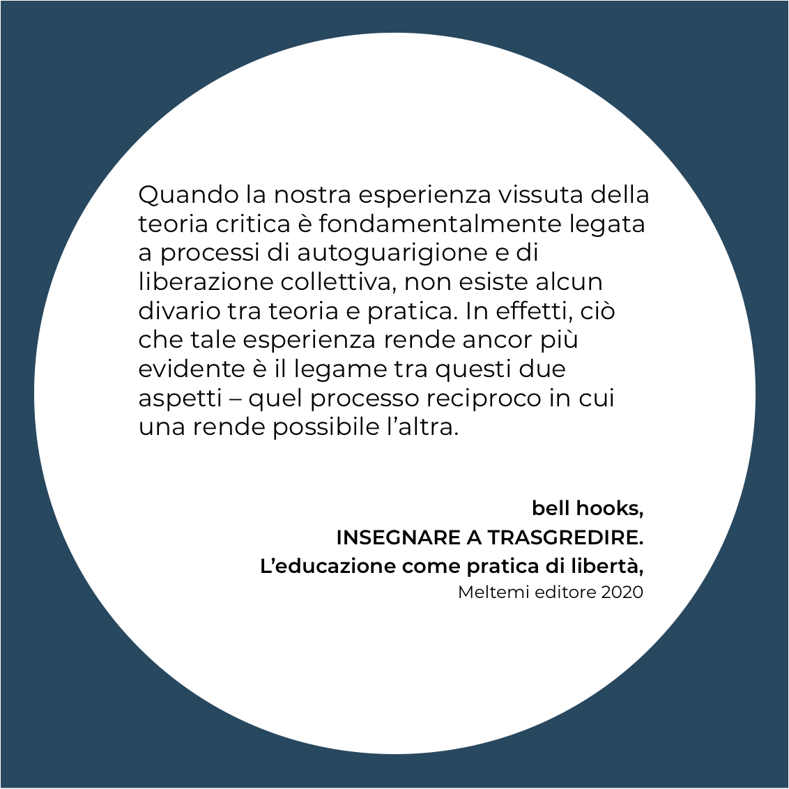 insegnare a trasgredire bell hooks