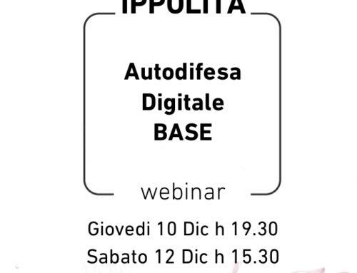 Autodifesa Digitale SEMINARIO BASE  Dicembre 2020